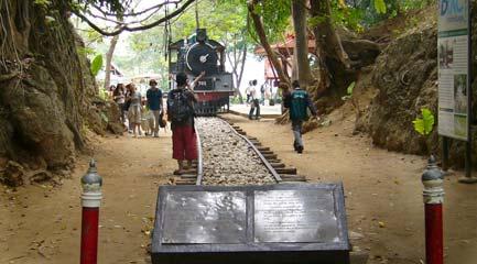 圖3:Nam Tok 的火車頭