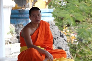 Thailand Temple Meditate Sitting Monk Buddhism